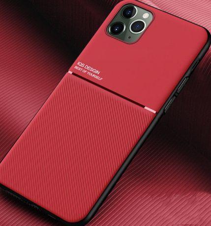 Etui biznesowe magnetyczne iphone 11 pro + szkoło hartowane