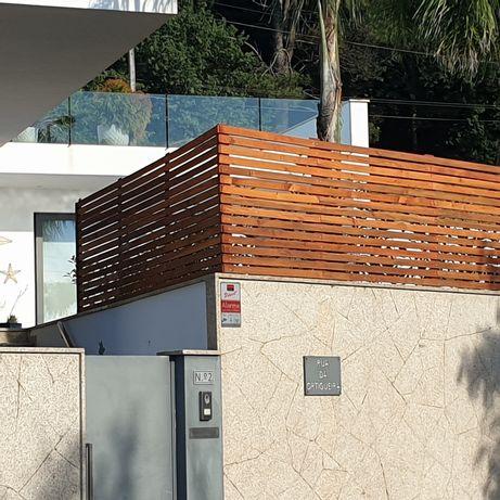 AMrenovações .. montagem de barreiras, de jardim, em madeira e ferro.