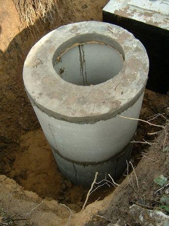Установка выгребных, сливные ямы копка канализации, монтаж септика.