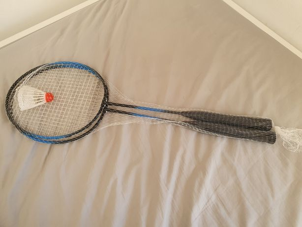 Raquetes e volante de Badminton