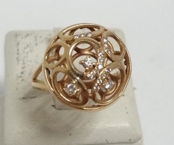 Кольцо из красного золота с цирконием (12553187) (12553187)