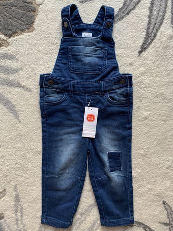 SMYK Cool club nowe Jeansowe ogrodniczki chłopięce 86 spodnie jeansowe