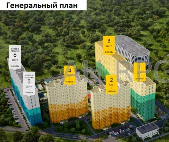 БЕЗ %  1 ком  видовая 40м2 в новом ЖК Одесский бульвар  метро Теремки