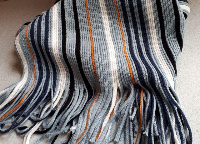 nowy szalik męski długi szal w modne paski