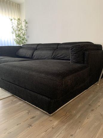 Sofá com chaise longue