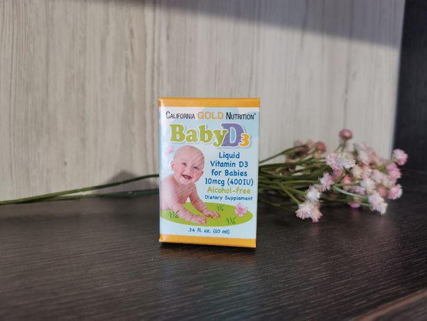 Детский Витамин Д D3 California Gold Nutrition 400 IU