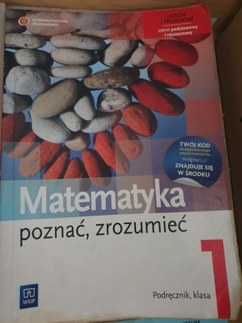 Podręcznik Matematyka poznać,zrozumieć 1