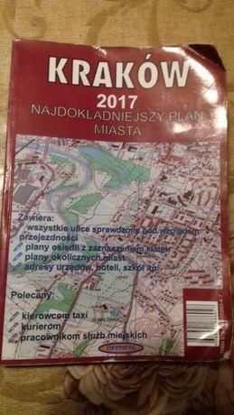 mapa Krakowa dla kierowcy taksówki