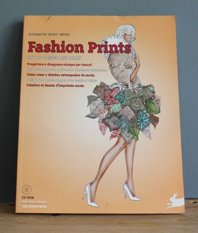 Fashion Prints How to Design and Draw + CD книжка для дизайнерів одягу