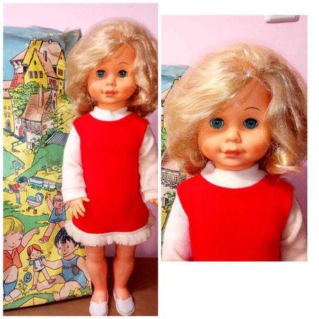 Новая кукла 60см длинные волосы сеточка громко плачет ГДР