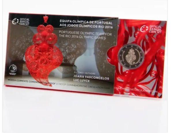 Moeda 2 euros coleção equipa olimpica de Portugal aos jogos olímpicos