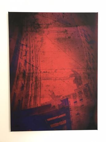 "Obraz na płótnie rozmiar 80X60 abstrakcja ""Miejsce na ziemi"""