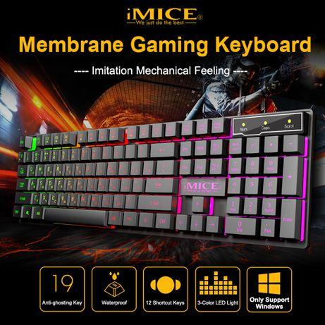Клавиатура игровая USB с LED подсветкой клавиш компьютерная клава jk[