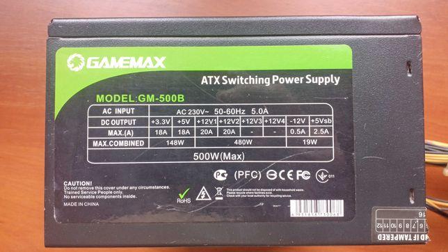 Блок питания Gamemax GM-500B 500W Б/У