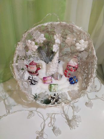Новогодний шар для новогодней атмосферы в ваш дом. Ручная работа