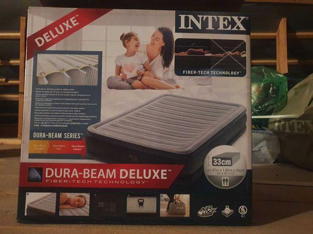 Надувной матрас кровать Интекс Intex original насос 220v (2 размера)