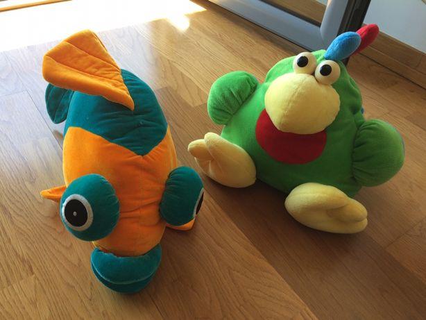 Peluches brinquedos Bebé Criança - Peixe e Papagaio