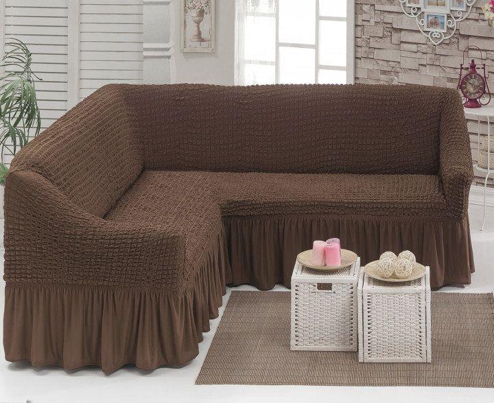 Угловой натяжной чехол на диван накидка Hommy Turkey, универсальный Днепр - изображение 1