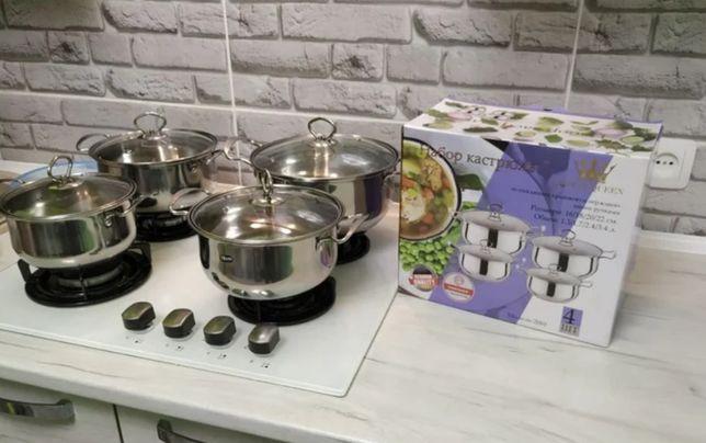 Набор кастрюль Grandhoff GR-3558 | Набор посуды кастрюли