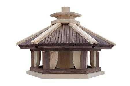 Drewniany karmnik dla ptaków, domek L