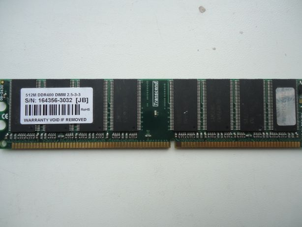 ОЗУ Transcend 512MB DDR 400 U-DIMM 2.5-3-3