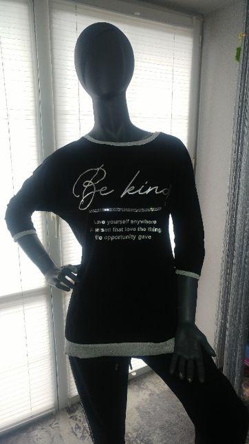 Nowa bluzka Megi rozm. S/M z metkami czarna/beż/biała