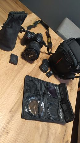 Nikon D5100+ 18-105 AF-S 3.5-5.6+filtry+torba+2 baterie przebieg 10tys