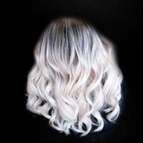 Окрашивание/покраска волос. Выход из чёрного в Блонд. Мелирование.