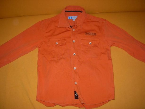 Camisa Sacoor Brothers Laranja + T'shirt River Hoods Branca 6 anos