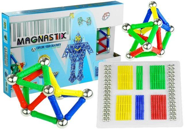 Duży Zestaw Klocków Magnetycznych Magnastix 188 El 659