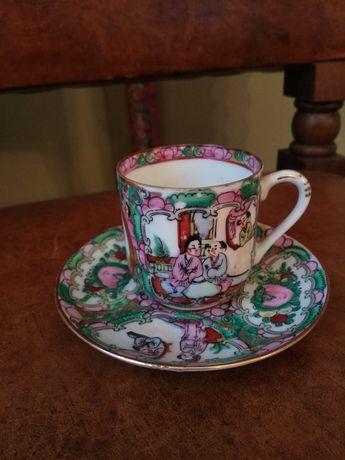 Chávena + prato chá coleção - motivos japoneses Japão