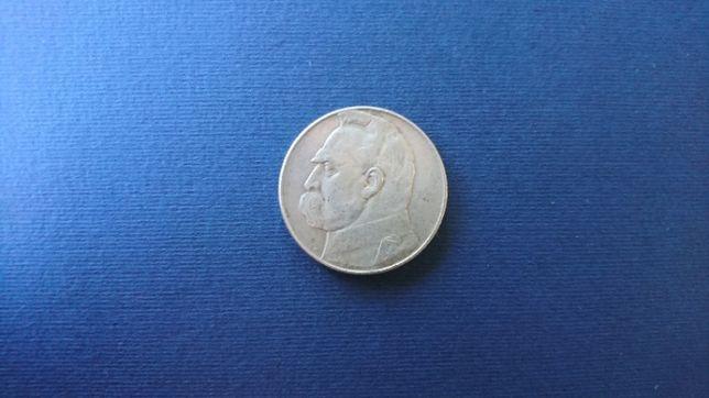 OKAZJA! Srebrna moneta 10 złotych z 1936r. z wizerunkiem J. Piłsudskie