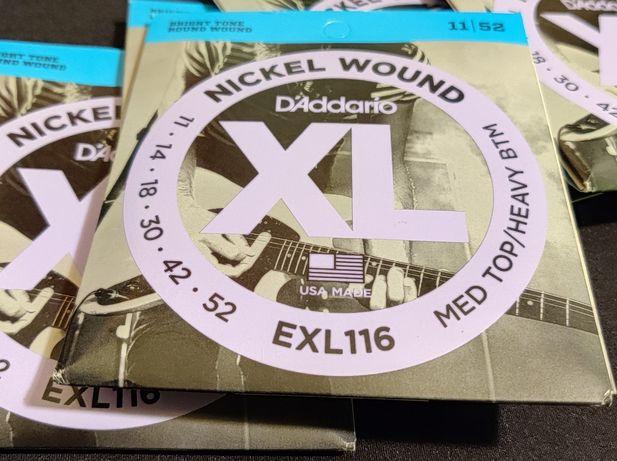 D'Addario EXL116 rozm 11-52 struny do gitary elektrycznej Daddario