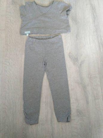 Лосины, костюм для гимнастики, набор лосины и кофта