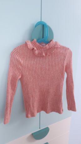 Sweter dziewczęcy morelowy C&A rozmiar 122