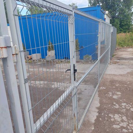 Ogrodzenie wys.180 cm kpl. ocynk 164 mb ,2x brama 6 mb,furtka,słupki.