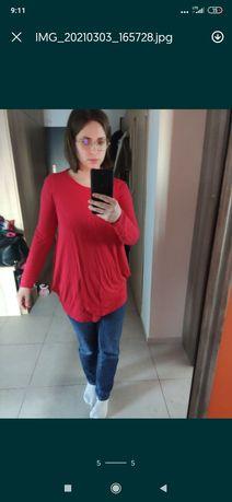 Ciążowa bluzka albo bluzka do karmienia z długim rękawem