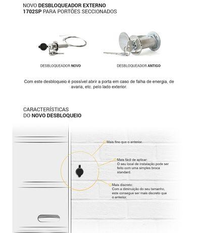 Desbloqueio exterior p/ motor secc/basc