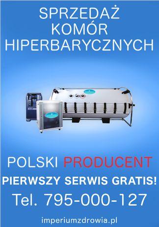 komora hiperbaryczna Polskiej produkcji tlenoterapia Gwarancja Montaż