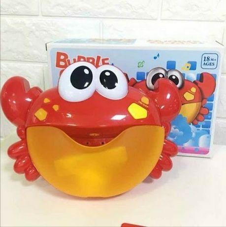Игрушка краб для купания вани ванны музыкальный бульбашок пены жаба