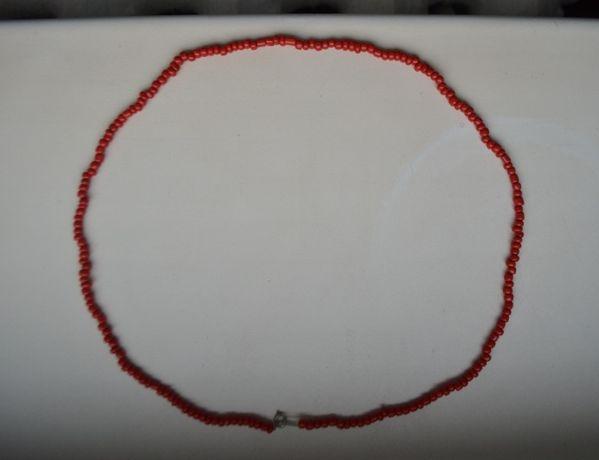 Бусы, ожерелье, намисто под коралл (корал). Длина 56 см Вес 14,5 гм №2