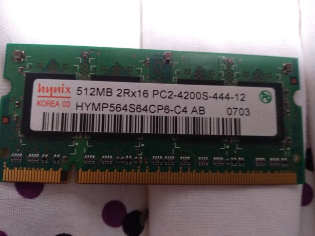 Hynix 512MB DDR2 667MHZ Notebook Computer Memory HYMP564S64CP6-Y5