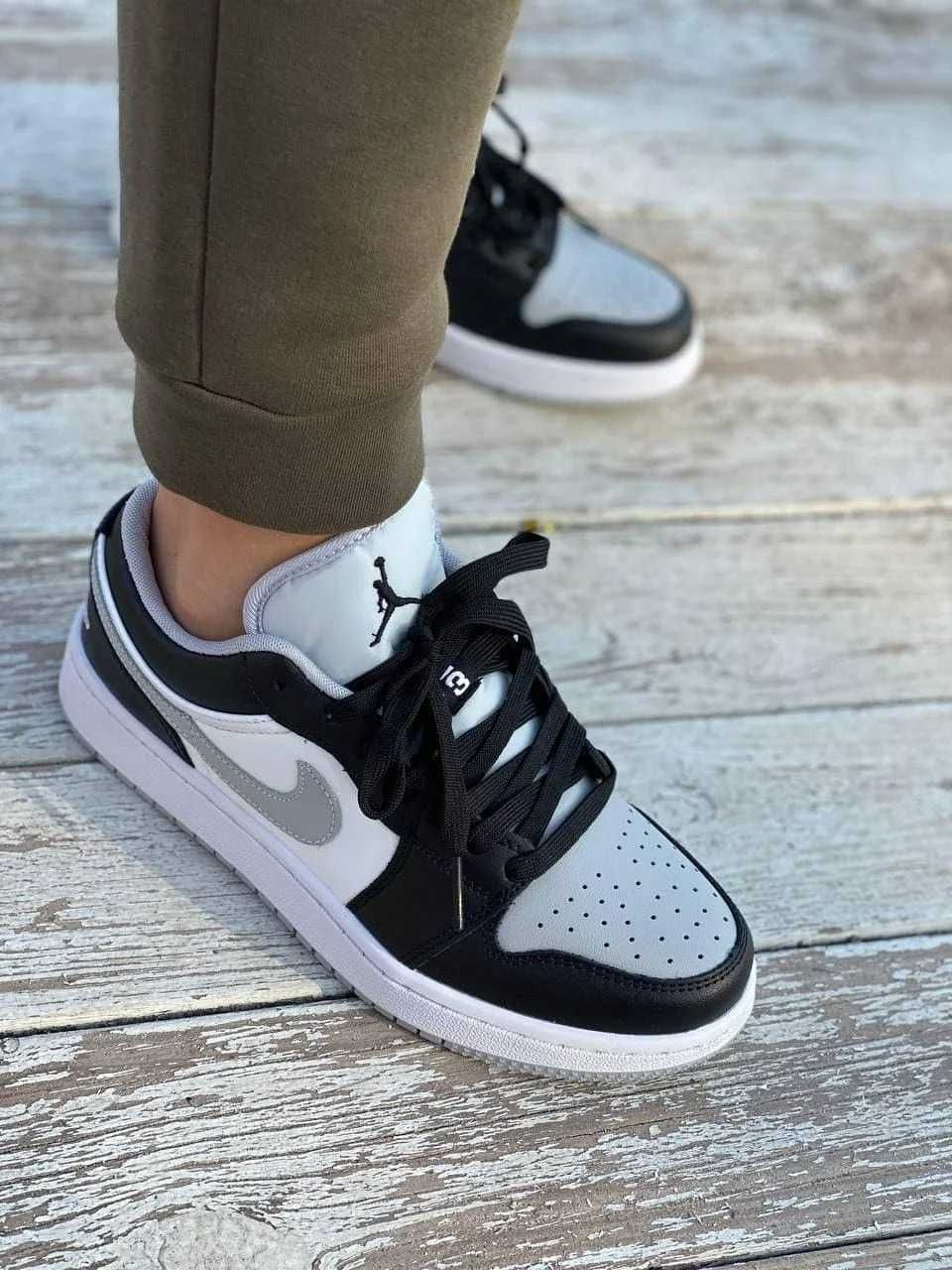 Кроссовки Nike Air Jordan Low Gray/Black/Force 1/Качество 1в1 Оригинал