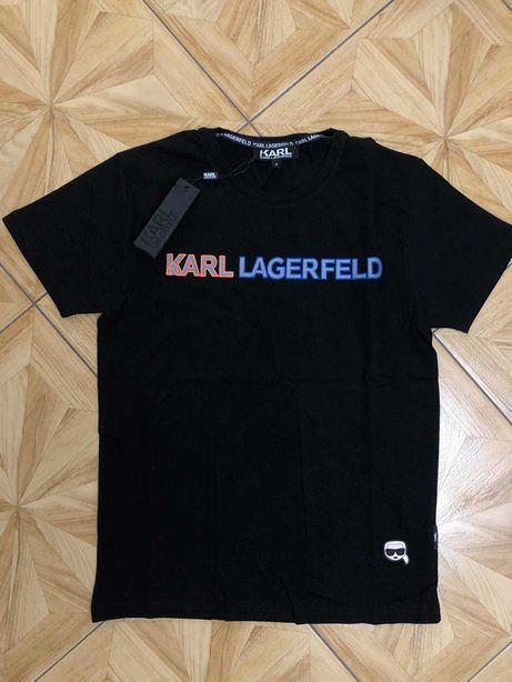 Karl Lagerfeld Koszulka Meska Logo HAFTOWANE
