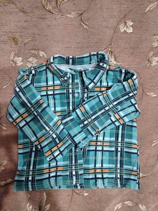 Рубашка байковая теплая б/у 2-3 годика Белая Церковь - изображение 1