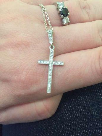Крестик бриллиантовый