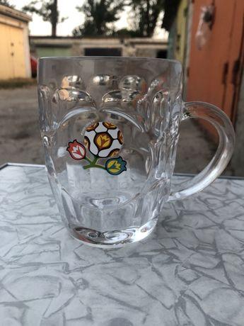 Кружка, пивной стакан, бокал UEFA Euro 2012, для футбольного фаната