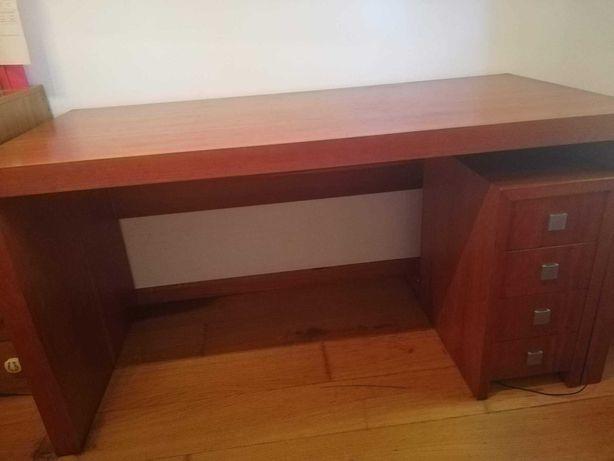 Secretária de escritório madeira maciça