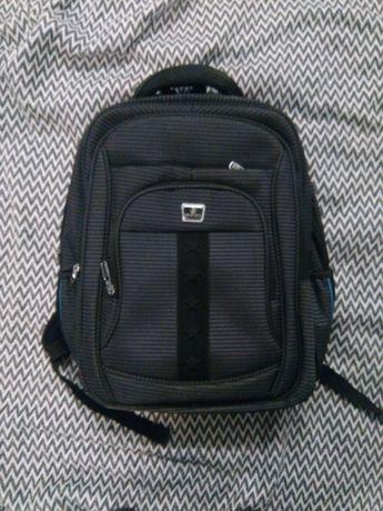 Рюкзак чорний шкільний міський denggao
