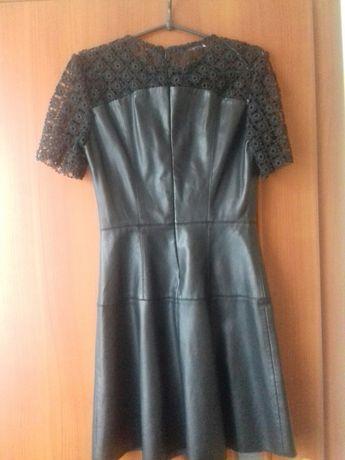 Платье с екокожи